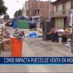 Chiclayo: Combi impacta puesto de venta en Monsefú
