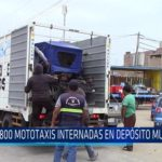 Chiclayo: 800 mototaxis internadas en depósito municipal