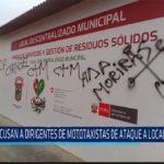 Chiclayo: Acusan a dirigentes de mototaxistas de ataque a local municipal