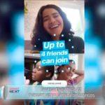 Navega en la plataforma de Instagram durante videollamada de 4 amigos