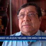 Orlando Velásquez negaba cercanía con Walter Ríos