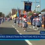 Trujillo: Pequeños demuestran patriotismo pese a crisis política