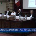 Chiclayo: Candidatos exponen planes para personas con discapacidad