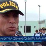 PNP contará con 40 motocicletas para patrullaje