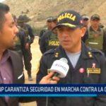 PNP garantiza seguridad en marcha contra la corrupción