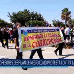 Chiclayo: Profesores desfilan de negro como protesta contra la corrupción