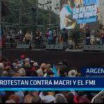 Argentina: Protestan contra Macri y el FMI