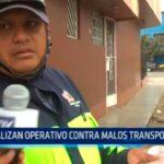 Trujillo: Realizan operativo contra malos transportistas