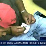 Piura: sujetos en Paita consumen droga en avenidas públicas