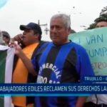Trabajadores ediles reclaman sus derechos laborales