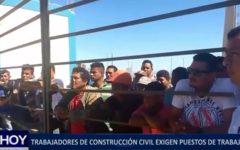 Piura: Trabajadores de construcción civil exigen puestos de trabajo