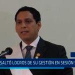 Valdez resaltó logros de su gestión en sesión solemne
