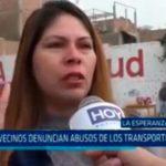 Trujillo: Vecinos denuncian abusos de los transportistas