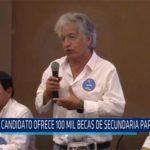 Chiclayo: Candidato ofrece 100 mil becas de secundaria para jóvenes