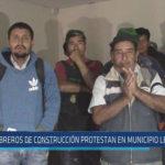 Chiclayo: Obreros de construcción protestan en municipio leonardino