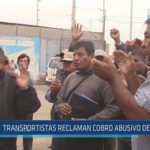 Chiclayo: Transportistas reclaman cobro abusivo de municipio