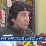 Chiclayo: Bajas temperaturas se mantendrán hasta octubre