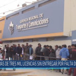 Chiclayo: Más de tres mil licencias sin entregar por falta de material