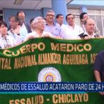 Chiclayo: Médicos de Essalud acataron un paro de 24 horas
