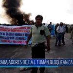 Chiclayo: Trabajadores de E.A.I. Tumán bloquean carretera