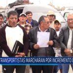 Chiclayo: Transportistas marcharan por incremento de tarifa