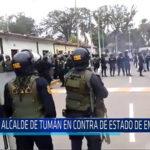Chiclayo: Alcalde de Tumán en contra de estado de emergencia