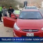 Piura: Trujillanos fueron capturados con 30 kilos de droga