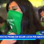 Argentina: Activistas prometen seguir lucha por aborto legal