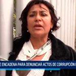 Se encadena para denunciar actos de corrupción en la CSJLL