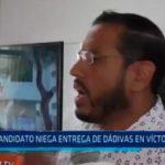 Candidato niega entrega de dádivas en Víctor Larco
