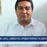 Candidatos exponen propuestas anticorrupción