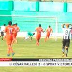 Segunda Profesional: Universidad César Vallejo venció 2 – 0 a Sport Victoria