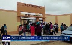 Chiclayo: Padres de familia toman colegio pidiendo salida de directora