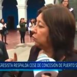 Congresista respalda cese de concesión de puerto Salaverry