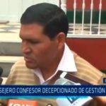 Consejero confesor decepcionado de gestión regional
