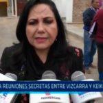 Critica reuniones secretas entre Vizcarra y Keiko Fujimori