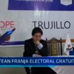 Trujillo: Sortean franja electoral gratuita