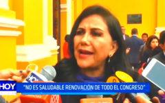 """Gloria Montenegro: """"No es saludable renovación de todo el Congreso"""""""