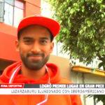 Lizarzaburo logró primer lugar en Gran Prix en Lima