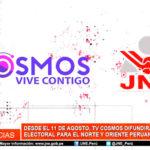 TV Cosmos difundirá desde el 11 de agosto Guía Electoral para norte y oriente peruano