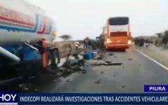 Piura: Indecopi realizará investigaciones tras accidentes vehiculares