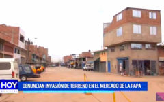 """Trujillo: Denuncian invasión de terreno en el """"mercado de papas"""""""