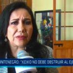 """Montenegro: """"Keiko no debe obstruir al ejecutivo"""""""