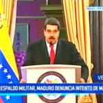 Venezuela: Con respaldo militar, Maduro denuncia intento de magnicidio