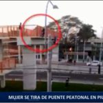 Piura: Mujer se tira de puente peatonal