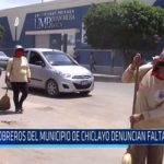 Chiclayo: Obreros del municipio de Chiclayo denuncian falta de pagos