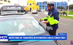 Inspectores de transporte intervienen a malos conductores