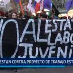 Chile: Protestan contra proyecto de trabajo estudiantil