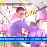 Lima: Sujeto golpea a chofer de microbús por no estacionar en paraderos prohibidos