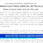 JEET: Descartan tacha contra Daniel Marcelo